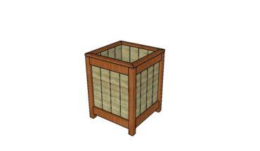 Planuri pentru ghiveci de lemn pentru flori