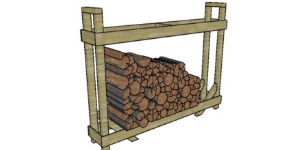 Suport de lemne de foc DIY